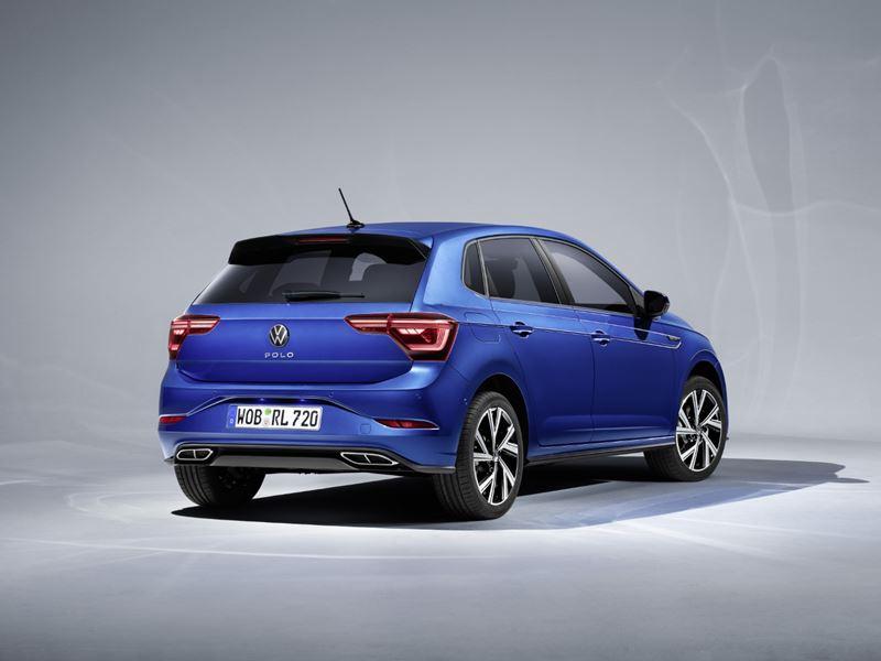 VW Polo 2021 Rechtsachter Blauw