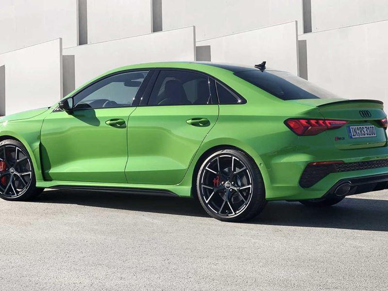 Audi Rs3 Limousine Groen Zijkant