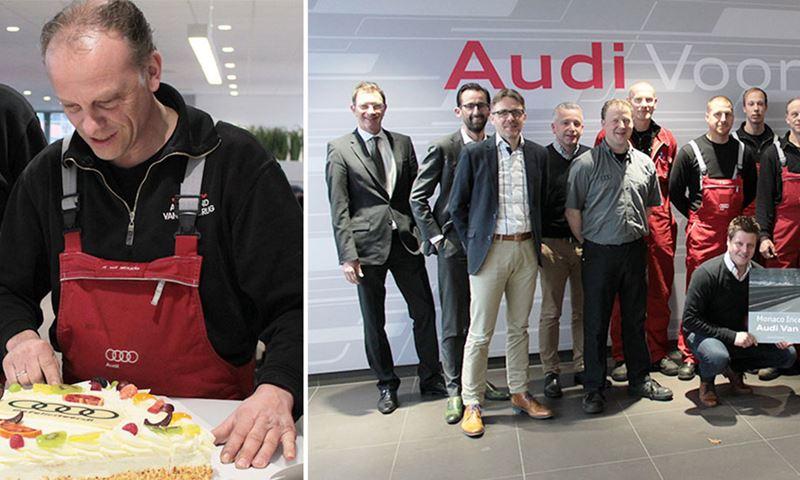 Audi Nederland Brengt Taart En Prijs Beste Service Bij Audi Dealer Vandenbrug Drachten