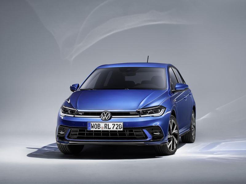 VW Polo 2021 Front Blauw