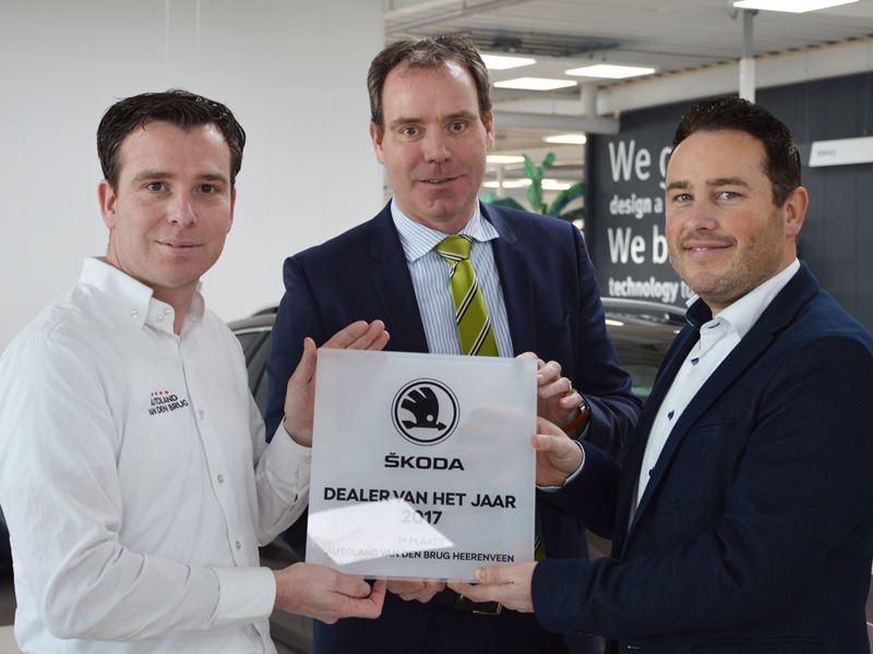 2017 Overhandiging Award Allerbeste Skoda Dealer Vandenbrug