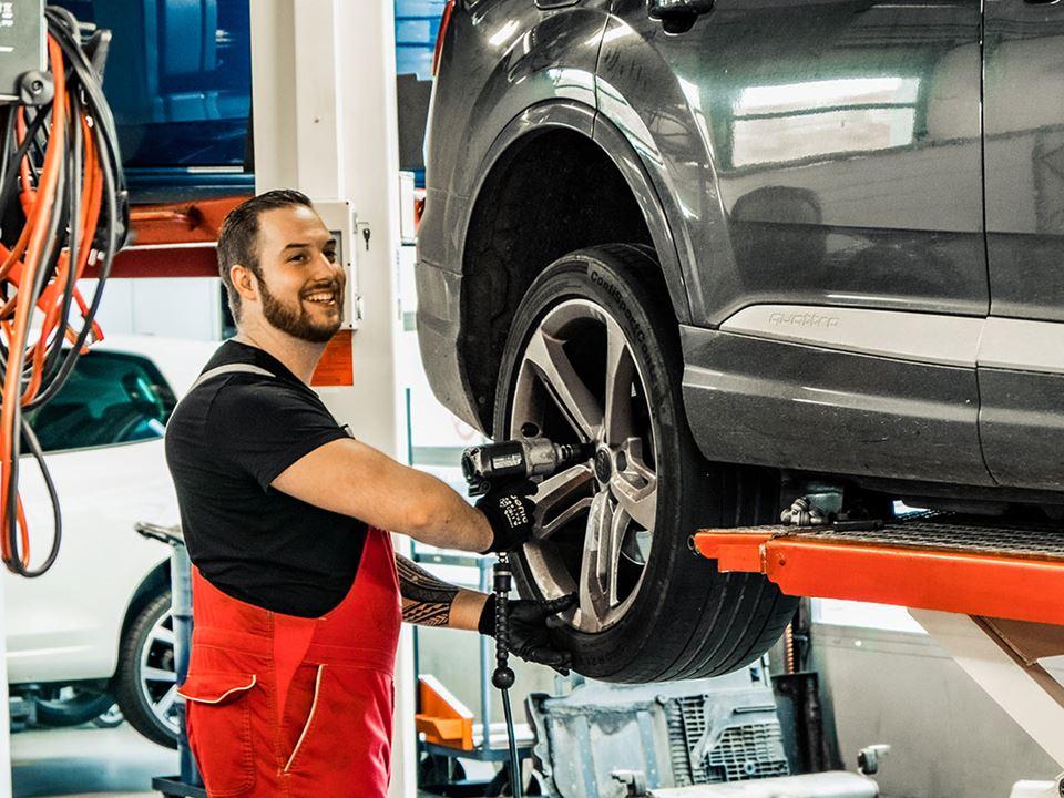 Audi Werkplaats Onderhoud Service Bandenwissel