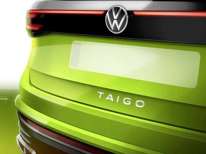 VW Taigo Back Logo